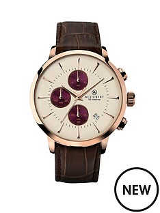 accurist-chronograph-cream-dial-with-brown-leather-strap-mens-watch