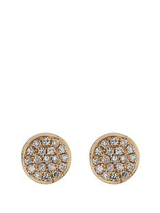 love-diamond-9-carat-gold-7-point-pave-diamond-disc-earrings