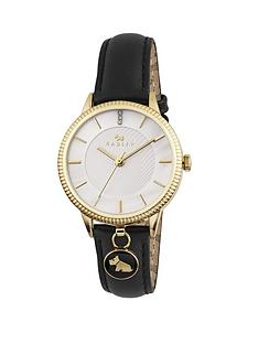 radley-evening-hanging-charm-gold-and-black-leather-strap-ladies-watch