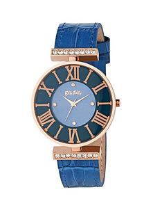 folli-follie-dynasty-collection-crystal-set-stainless-steel-rose-gold-case-and-blue-leather-strap
