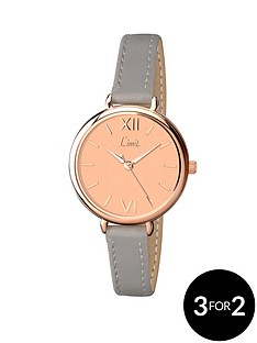 limit-rose-gold-plated-strap-ladies-watch