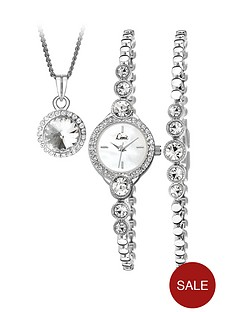 limit-ladies-silver-bracelet-watch-with-bracelet-and-pendant