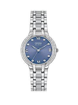 citizen-eco-drive-bella-diamond-blue-face-stainless-steel-bracelet-ladies-watch
