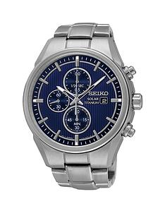 seiko-navy-blue-dial-solar-chronograph-titanium-bracelet-mens-watch