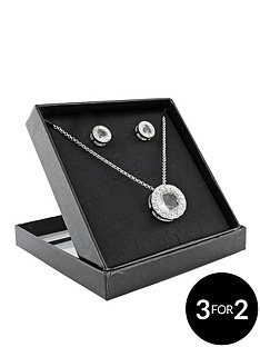 silver-tone-crystal-pendant-and-earring-set