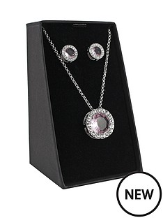 silver-tone-pink-and-white-crystal-necklace-and-earrings-set