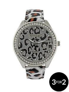 thomas-calvi-crystal-set-animal-print-strap-ladies-watch