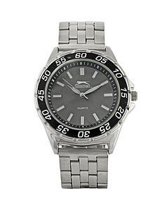 slazenger-silver-tone-bracelet-black-dial-mens-watch