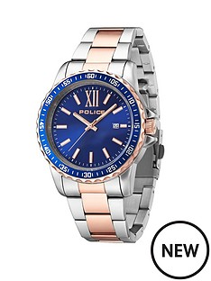 police-las-vegas-two-tone-stainless-steel-bracelet-mens-watch