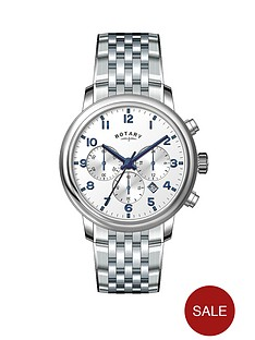 rotary-white-dial-blue-accents-chronograph-stainless-steel-mens-watch