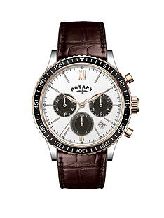 rotary-rose-gold-case-chronograph-brown-leather-strap-mens-watch