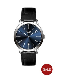 rotary-blue-dial-black-leather-strap-mens-watch