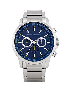 french-connection-blue-chronograph-dial-stainless-steel-bracelet-mens-watch
