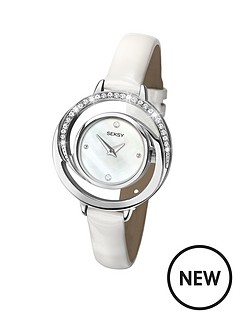seksy-mother-of-pearl-dial-crystal-set-white-leather-strap-ladies-watch