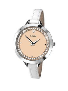 seksy-white-dial-crystal-set-white-leather-strap-ladies-watch