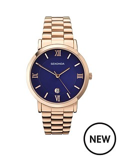 sekonda-blue-dial-rose-gold-tone-bracelet-mens-watch