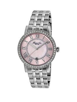 kenneth-cole-pink-mother-of-pearl-dial-stainless-steel-bracelet-ladies-watch