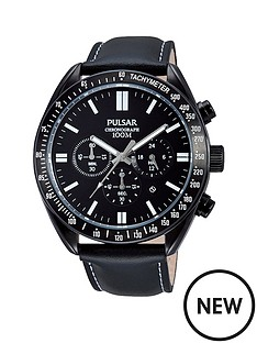 pulsar-sports-chronograph-ion-plated-black-dial-black-leather-strap-mens-watch