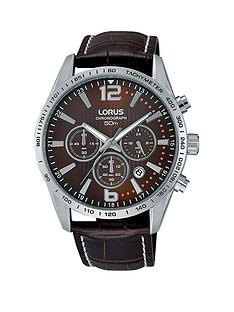 lorus-chronograph-brown-dial-with-brown-leather-strap-mens-watch