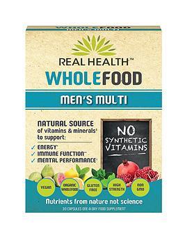 REAL HEALTH Wholefood Men's Multi - 30 Capsules
