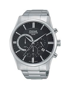 pulsar-chronograph-black-dial-silver-bracelet-mens-watch