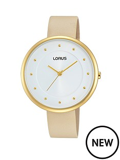 lorus-white-sunray-dial-with-nude-leather-strap-ladies-watch