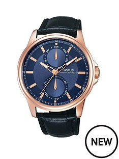 lorus-multi-function-blue-dial-with-black-leather-strap-mens-watch