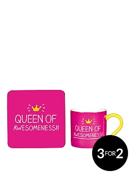 happy-jackson-queen-of-awesomeness-mug-and-coaster