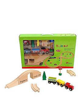 personalised-wooden-train-track-set