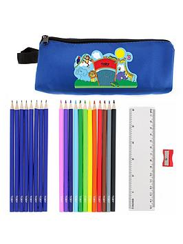 personalised-animals-pencil-case-and-pencils
