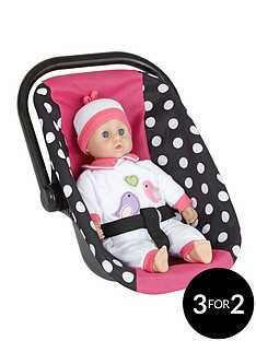 lissi-rosa-dolls-car-seat-and-35cm-soft-baby-doll