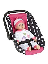 Rosa Dolls Car Seat and 35cm Soft Baby Doll