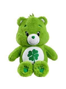 care-bears-medium-plush-with-dvd-good-luck-bear