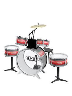 bontempi-6-piece-metallic-silver-drum-set-with-stool