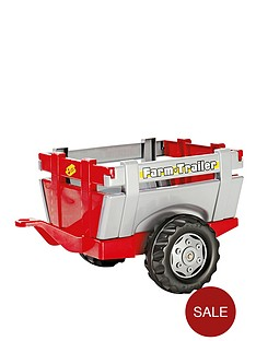 rolly-toys-farm-trailer-redsilver