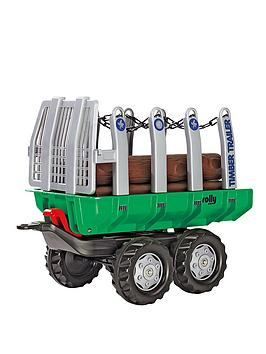 rolly-toys-timber-trailer-and-5-logs-green