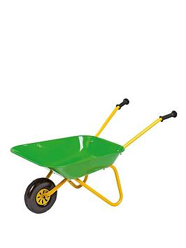rolly-toys-green-metal-wheelbarrow