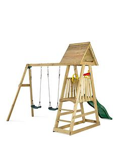 plum-indri-wooden-climbing-frame-outdoor-play-centre-with-two-swings