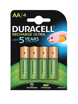 Duracell Recharge Ultra 4 x AA Batteries
