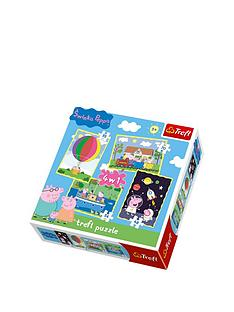 trefl-4-in-1-puzzle-peppa-pig