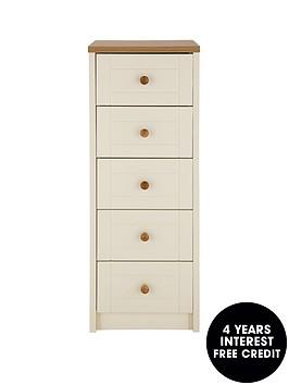 alderley-ready-assembled-narrow-5-drawer-chest