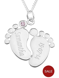 love-silver-personalised-sterling-silver-cubic-zirconia-set-baby-feet-pendant