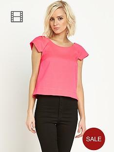 river-island-short-sleeve-lois-structured-t-shirt