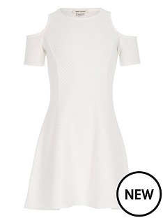 river-island-girls-white-cold-shoulder-textured-dress