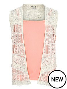 river-island-girls-crochet-kimono-and-cami-set-2-piece