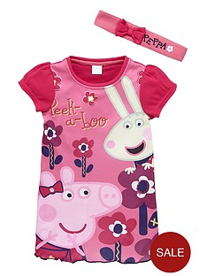 peppa-pig-girls-nightie-with-headband