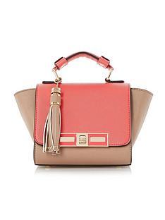 dune-colourblock-mini-winged-tote-bag