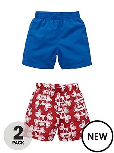 ladybird-toddler-boys-skull-print-and-magic-shark-print-board-shorts-2-pack