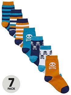 ladybird-boys-skull-socks-7-pack