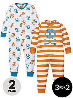 ladybird-boys-printed-skull-sleepsuits-2-pack
